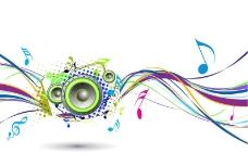 背景摘要彩虹波与音乐结