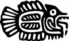 古墨西哥的鱼夹艺术母题