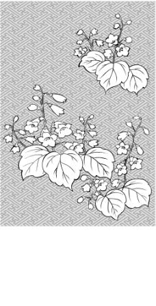 矢量线绘制flowers-29