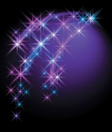灿烂的星空背景矢量