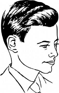 侧部分剪辑艺术媒介的发型图片