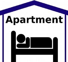 公寓的符号图像剪贴画