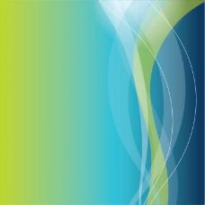蓝色的曲线矢量背景