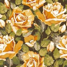 黄色油彩玫瑰矢量素材