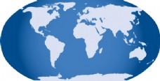 蓝色的世界地图剪贴画