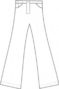 衣服裤子轮廓剪贴画