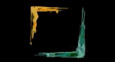 双色水彩画框视频
