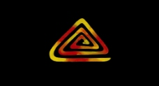 彩色三角形特效视频