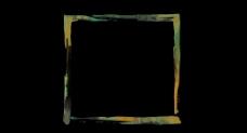 方形水彩画框视频