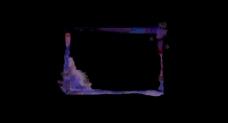 蓝紫色水彩画框