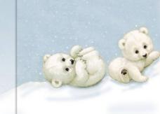 可爱小熊背景PPT素材