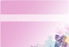 粉色花纹设计PPT背景