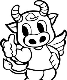 动画片,或者卡通人物,和牛有关的.图片