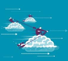 云技术 卡通设计 商务图片
