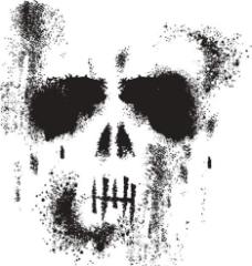 骷髅 T恤花纹图案 欧图片