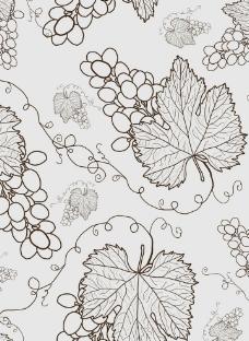 葡萄花纹图片