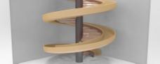 螺旋楼梯与滑块