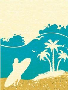 海边休闲旅游度假广告