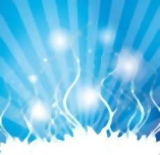 蓝色闪光漩涡矢量设计