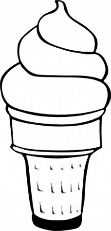冰激凌的简笔画