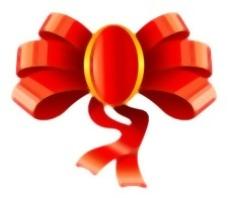 圣诞礼品装饰的丝带