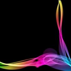 充满活力和丰富多彩的流动线条背景01矢量