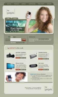 网站模板图片,网页设计 网站元素 网络 导航条 按钮