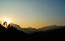 夕阳落山时图片