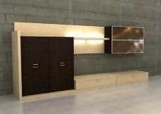 16款电视背景墙、影视墙3d模型-7