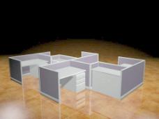 办公家具办公桌3d模型办公家具 8