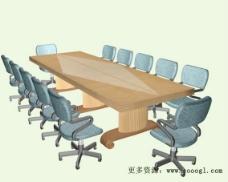 办公家具会议桌3d模型3d模型 7