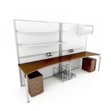 办公家具办公桌3d模型3d素材模板 151