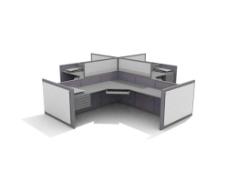 办公家具办公桌3d模型办公桌 34