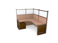 办公家具办公桌3d模型办公桌 41