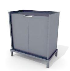 办公家具文件柜3d模型办公家具 54
