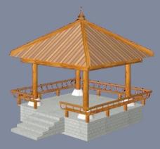 中式建筑3d模型下载3d 29