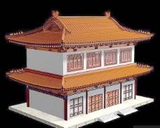 中式建筑3d模型下载3d模型 16