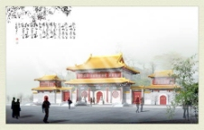 中式建筑3d模型下载3d模型 44