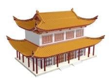 中式建筑3d模型下载3d 22
