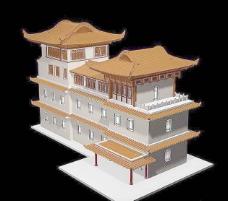 中式建筑3d模型下载3d建筑模型下载 14