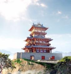 中式建筑3d模型下载3d建筑模型 34