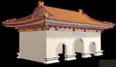 中式建筑3d模型下载3d 20