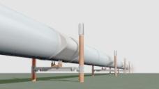 室外模型输油管道3d素材3d素材 1
