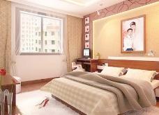 室内设计卧室3d素材装饰素材 29