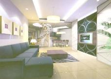 室内设计客厅3d素材3d装修模板 127
