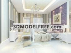 室内设计卧室3d素材室内设计 56