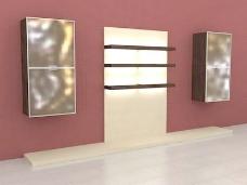 室内设计背景墙3d素材3d模型 40