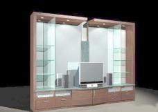 室内设计背景墙3d素材3d模型 116