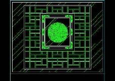 中式落地罩、中式隔断、活动式隔断、低隔断、高隔断CAD图块8