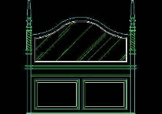 中式落地罩、中式隔断、活动式隔断、低隔断、高隔断CAD图块2
